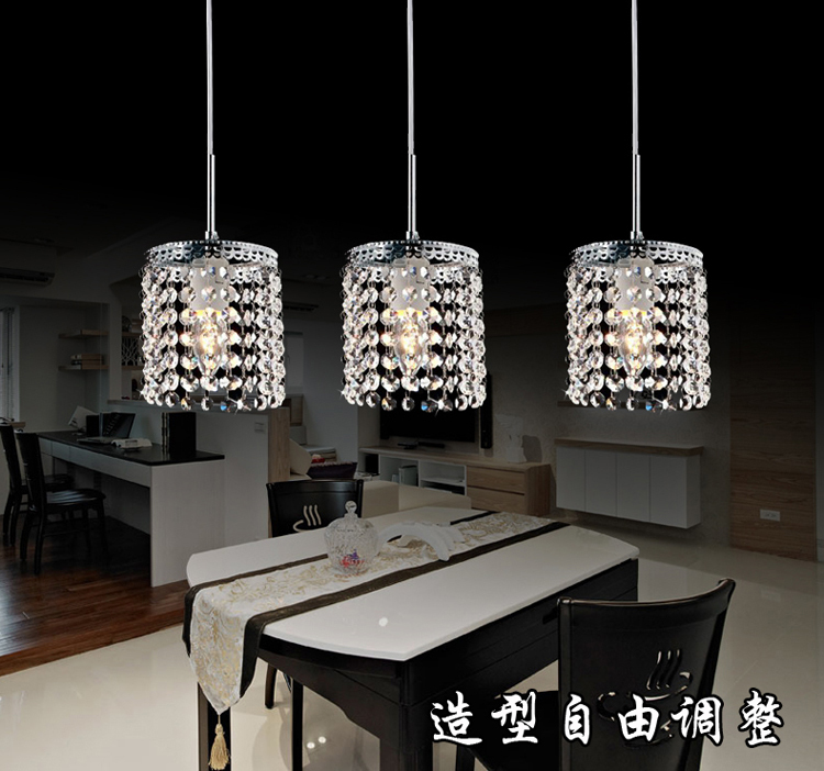 LED Linear Pendant Lamps Crystal Lighting Modern Crystal