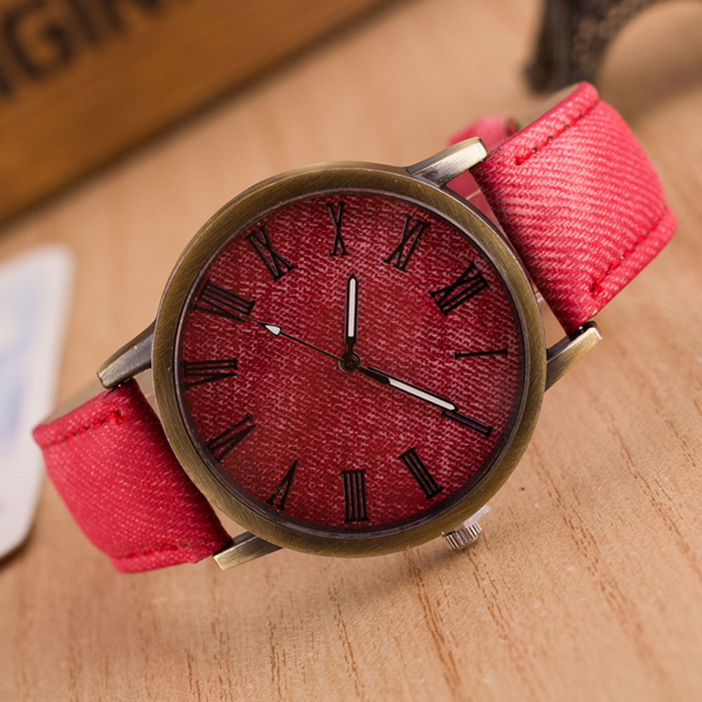 Fashion Women alloy Analog Quartz Wrist Watch leather round watches man new 2016 time