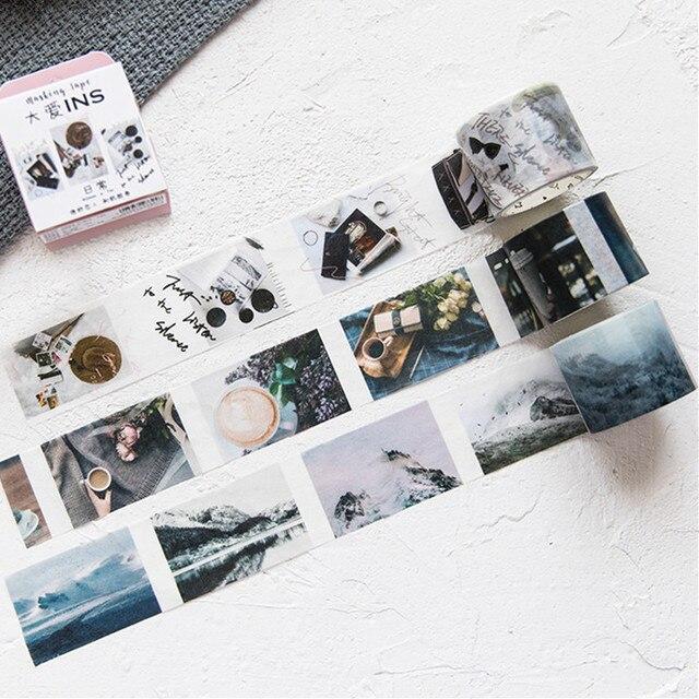Cinta Washi para envolver álbum de recortes y manualidades, cinta adhesiva de papel con bonitos patrones impresos