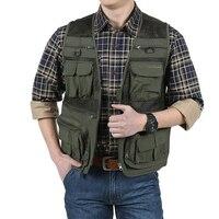 Quick Dry Breathable Multi Pocket Vest Men Fishing Mesh Vest Outdoor Plus Size Fishing Vests plus size S 6XL