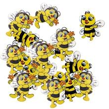 Новые 20 штук деревянные фигуры украшения «пчелки» для предметы для скрапбукинга декоративные кнопки Flatback декор с помощью открыток подарок