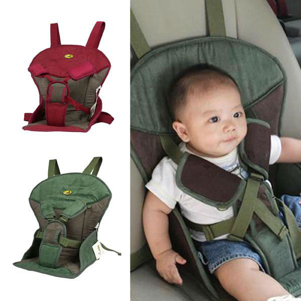 Red A169 Soft Suede Warm Sponge Child Safety Booster CarSeat Portable Infant Baby Car Seat