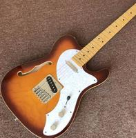 Factory direct TELE telecaster Semi hollow F hole body 6 Strings Guitar .change color . custom guitar
