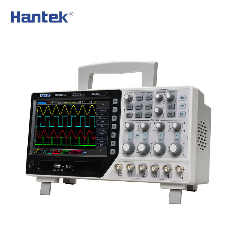 Hantek DSO4254C Oscilloscope Numérique à mémoire 4CH 250 mhz 1Gs/s Benchtop Osciloscopio 25 mhz Fonction/arbitraire générateur de signaux