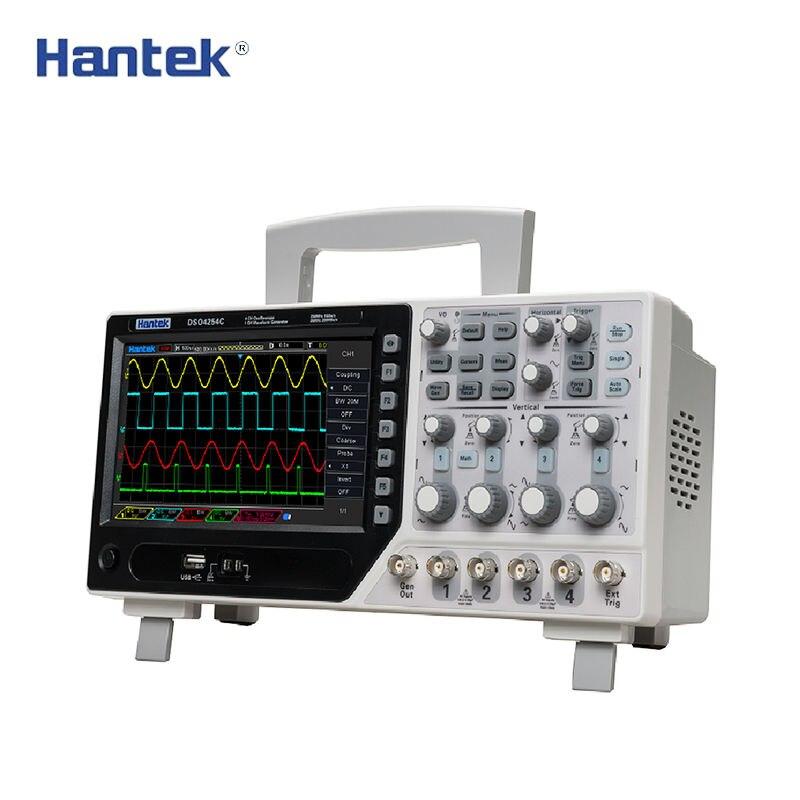 Hantek DSO4254C Oscilloscopio a memoria Digitale 4CH 250 mhz 1Gs/s Da Banco Osciloscopio 25 mhz Funzione/arbitrario generatore di segnale