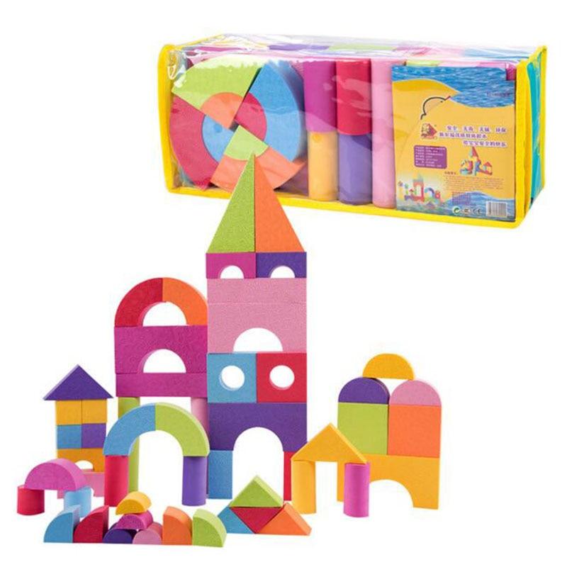 Safe Kids Toy Foam Blocks Geometric Assembling Blocks Building Bricks Gift Toys for Children Educational