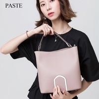 2017 лучшие из натуральной кожи женские сумки весна женский сумка на плечо модные женские сумки большой бренд Ipad розовый Кроссбоди Мешок