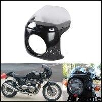 Universal Motorcycle 7 Cafe Racer Headlight Fairing Windshield Headlight Cover For Suzuki GN GR GS GT GZ LS 125 250 425 450 550