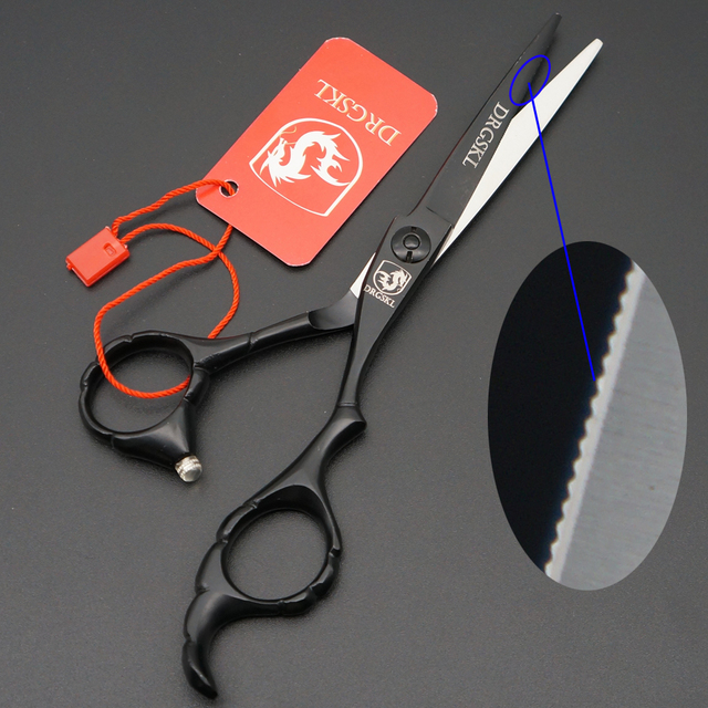 Drgskl Professional Hair Cutting Scissors Zigzag Blade 5 Inch Serrated Shears Hairdressing Custom