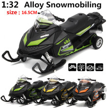 1 32 alloy pull back motorcycles snowmobiling high simulation model metal diecasts pull back flashing musical