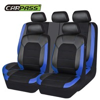 Car Pass Airbag Luxury PU Leather Universal Car Seat Covers Automotive Covers For Toyota Lada Kalina