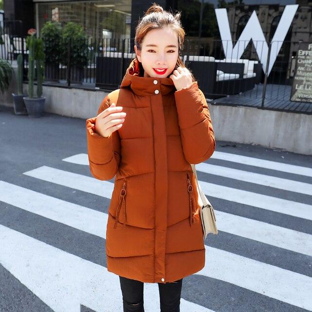 2bf0fc0e60 Warm Winter Jackets Women Fashion Down Cotton Parkas Casual Hooded Long  Coat Thickening Zipper Slim Fit Plus Size Long Parka
