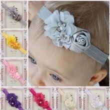 1 Pcs Adorável Bonito Crianças Bebê headband Da Flor Elástico Macio Acessórios Para o Cabelo Banda