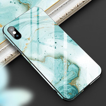 YWEWBJH Tempered GlassCase For iPhone 8 7 6s 6 Plus  Abstract drawing Cover XR XS Max X Phone Cases