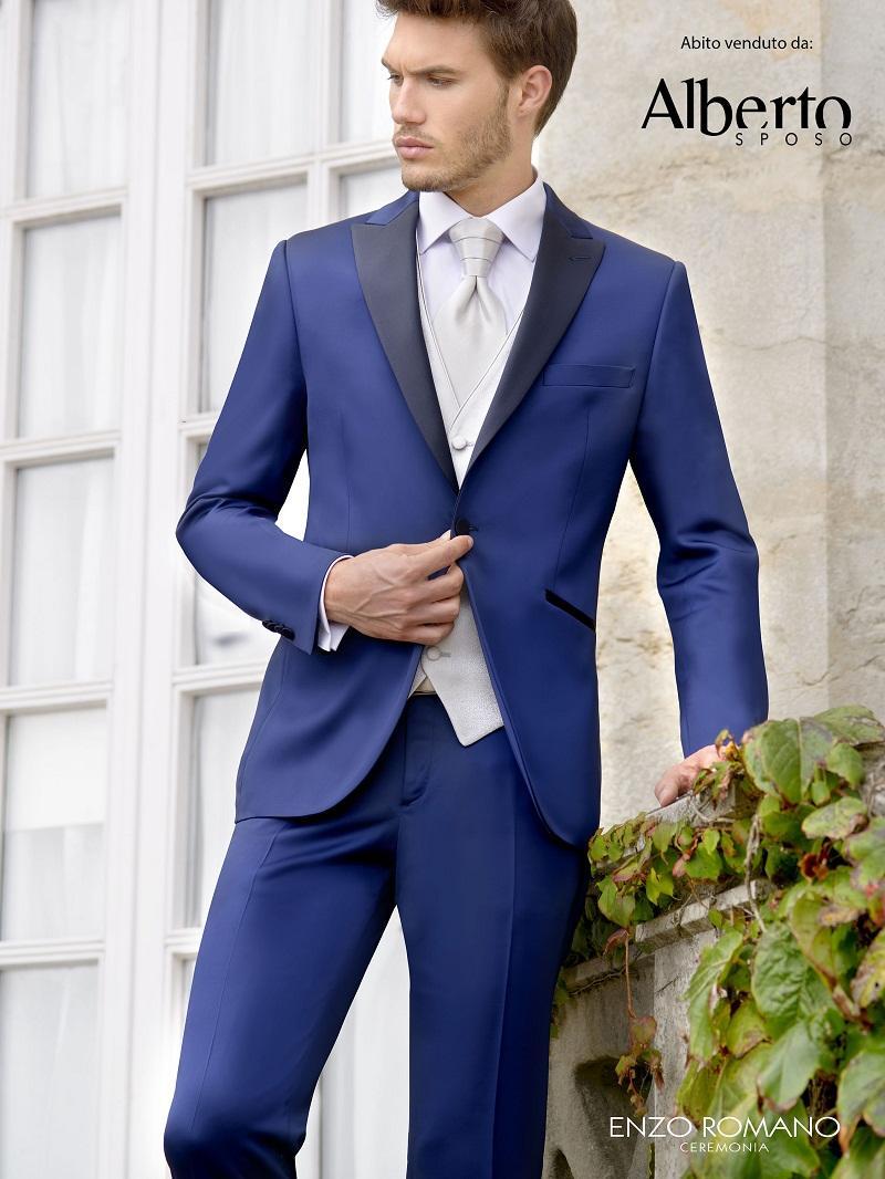Online Shop Custom Design One Button Royal Blue Groom Tuxedos ...