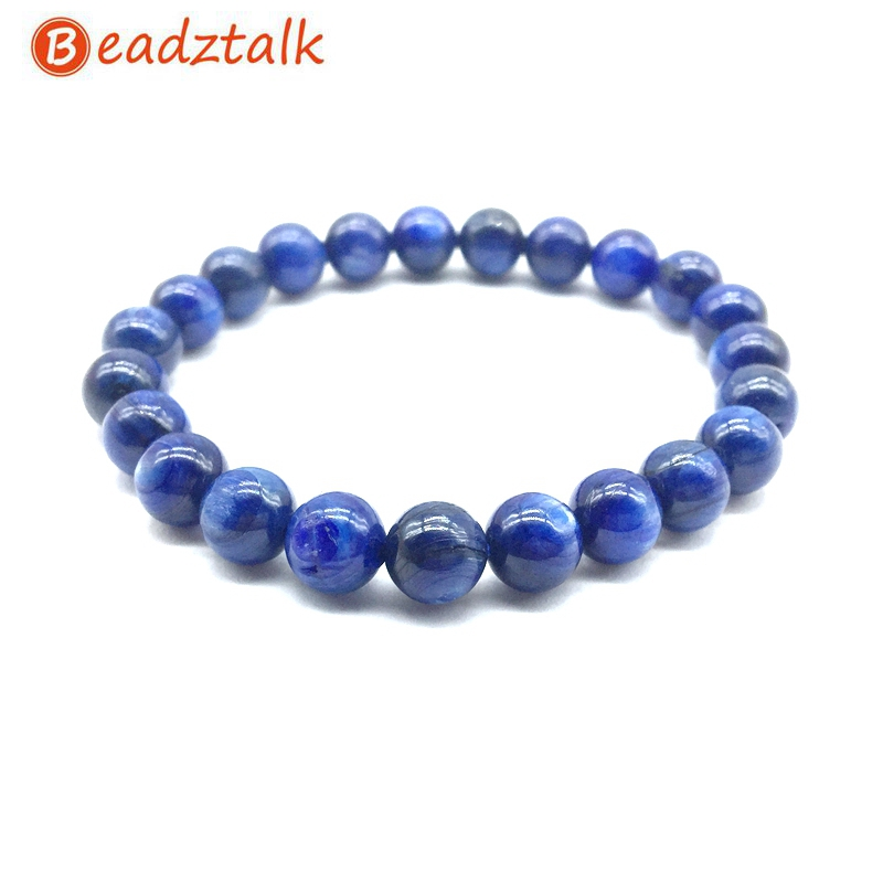 High quality Natural Kyanite Stone Beads Bracelet Bangle 8 mm 10 mm12 mm Smooth Round For Drop ShippingHigh quality Natural Kyanite Stone Beads Bracelet Bangle 8 mm 10 mm12 mm Smooth Round For Drop Shipping
