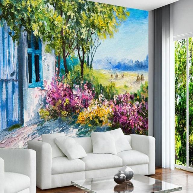 3d Photo Wall Murals European Mural Wallpaper Italy Town Fantastic Wall Murals Landscapes Home