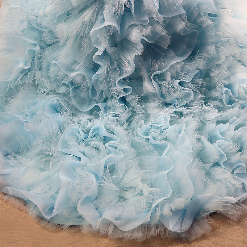 Childrens Evening Dress Model Beauty Contest Catwalk Chothing Princess Tail Tutu Stage Carnival Costume For Kids Party Gown