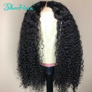 Sassy Curly Human Hair Wigs Malaysia Remy Hair 13×4 Lace Front Human Hair Wigs With Baby Hair Bleached Knots Slove Rosa