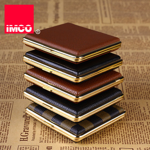 Image 3 - IMCO Original Cigarette Case Cigar Box Genuine Leather Tobacco Holder Pocket Storage Container Smoking Cigarette Accessories