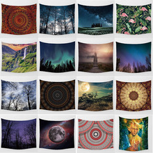 Hot sale large high-definition  mandala forest tapestry wall hanging home decoration