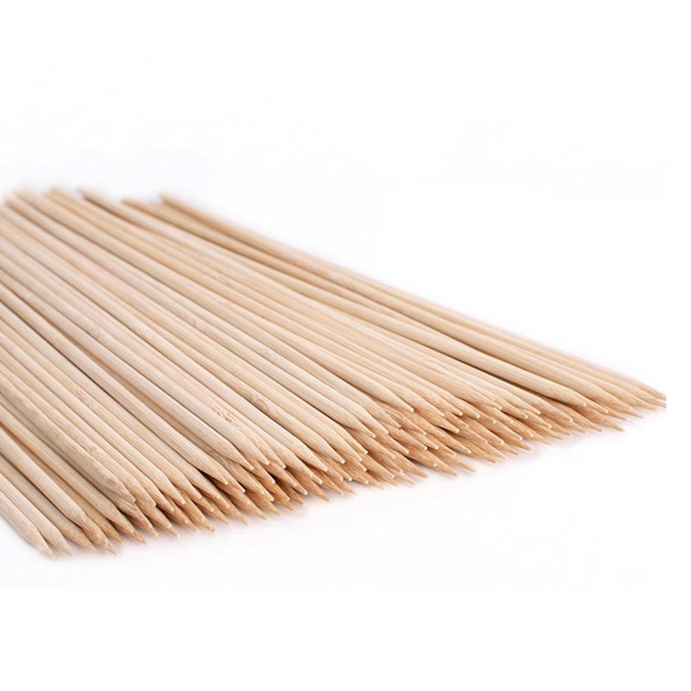 Buy Bamboo Skewer Sticks BBQ Fruit Shish Kebab Natural