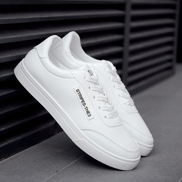 2018 New White Fashion Shoes Men Casual Lace-up Shoes tenis masculino adulto Comfortable Male Walking Shoes
