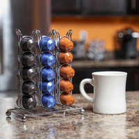 30 Cups Nespresso Capsule Storage Rack Coffee Pod Holder Tower Stand Iron Coffee Pods Shelves Stainless