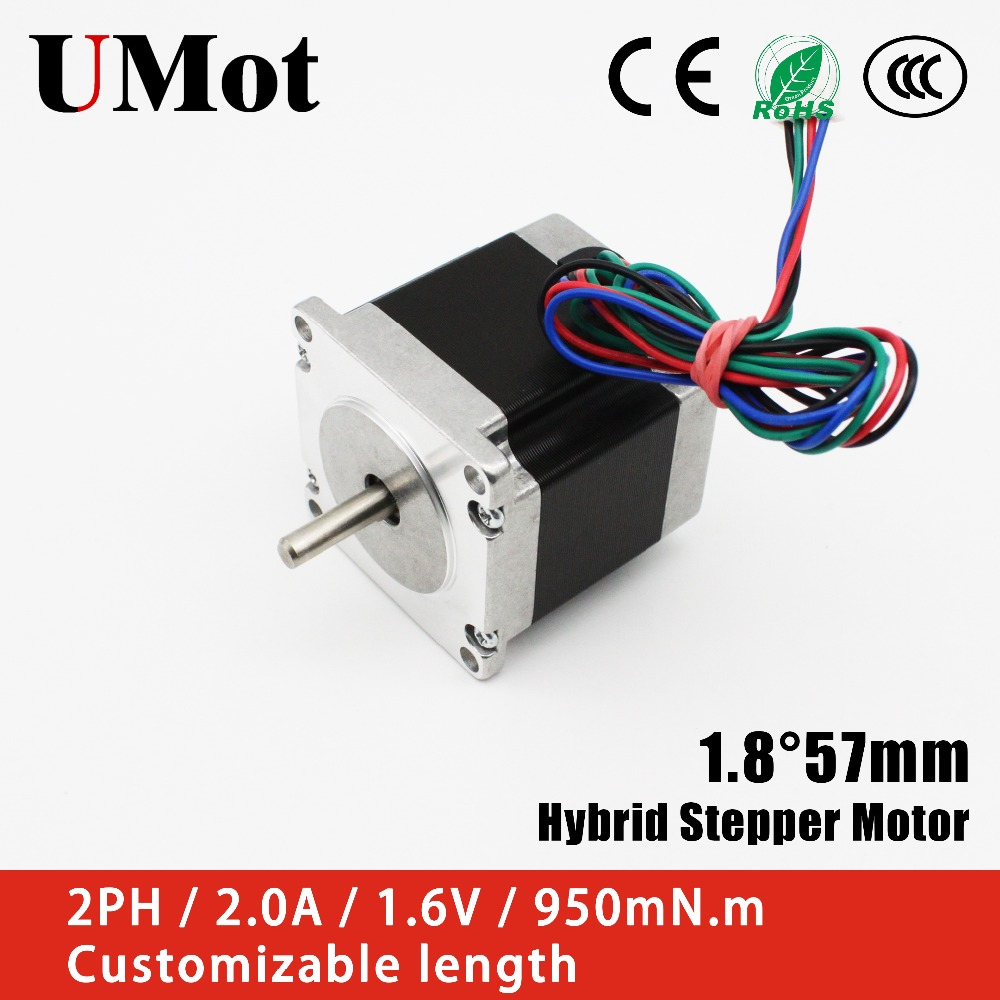 Nema 23 Stepper Motor 1.2Nm 2A 4-wire 56mm Shaft CNC Router Mill For Printer lot