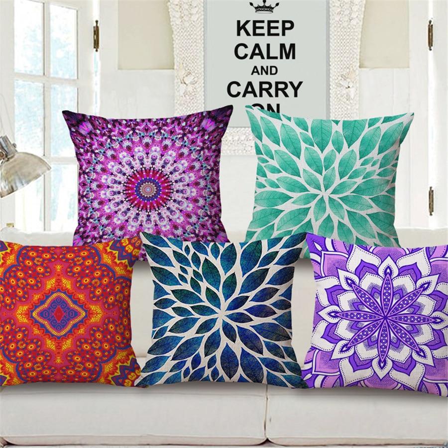 Boho Sofa Chinese Decorative Throw Pillows Cover Funda De Cojines Geometric Cushions Cover Home Decor Living Room For Chair e985