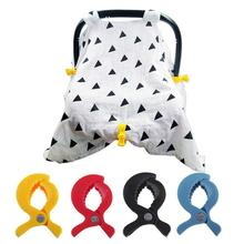 7cm Pram Clip Baby Car Seat Accessories Toy Lamp Pram Stroller Peg To Hook Cover Blanket Clips Mosquito Net Clips 6pc baby blanket clip for play gym baby car seat accessories lamp pram stroller peg teether toy hook cover children s goods toys