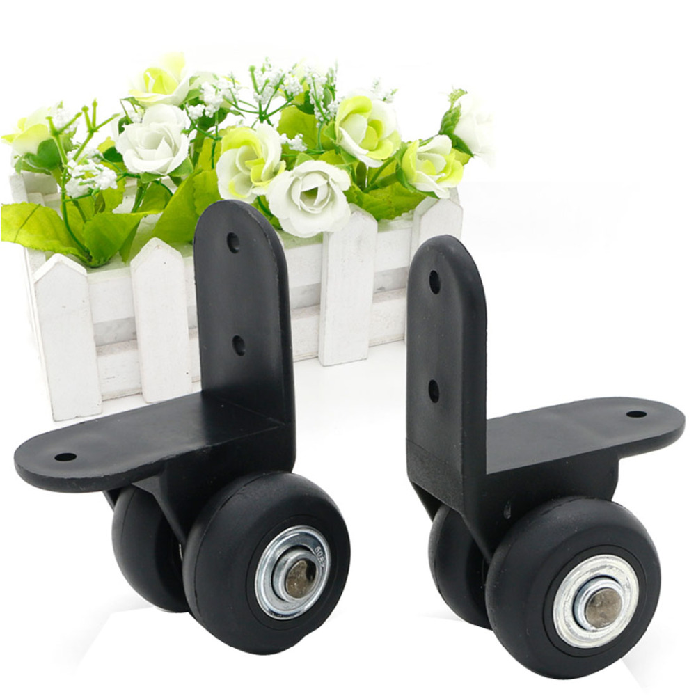 1Pair Luggage Wheels Replacement Travel Suitcase Repair Parts Trolley Travel Luggage Caster Directional Black Wheels D027 doorfix d027