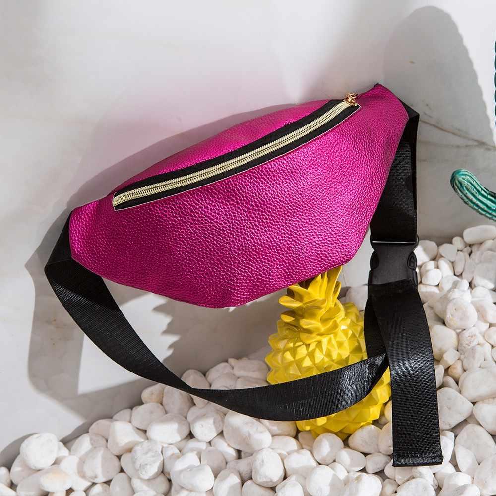 Women Sports Outdoor Running Waist Bag Fashion Delicate Texture Mobile Phone Bag Cross-bag Shoulder Bag