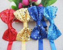Paillette laço magic show gravata crianças gravata partido cosplay acessórios frete grátis 10 pçs/lote