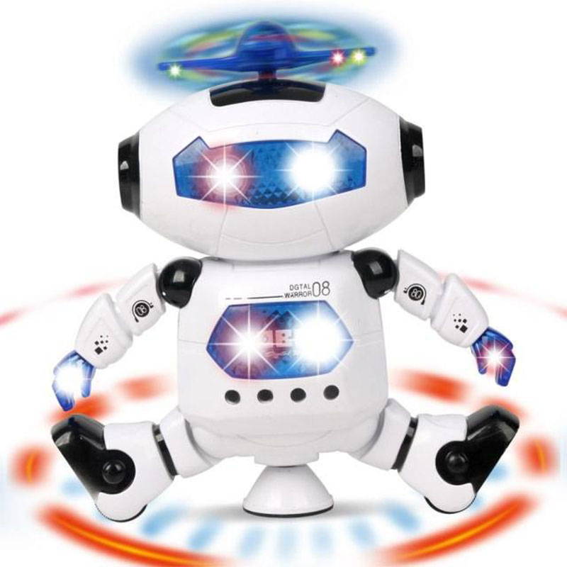 HOT! Smart Space Dance Robot Electronic Walking Toys With Music Light Gift For Kids Astronaut Toy to Child gift