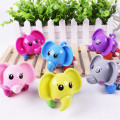 1 Unids Kawaii Wind Up Toy Funny Baby Zoo, bebé Elefante Diseño Correr Clockwork Toy Primavera Recién Nacido Bebé Clockwork Toy Random