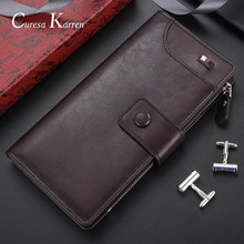 European and American fashion classic 2019 Long and high quality men's long wallet multi-function zipper wallet  hand purse gift
