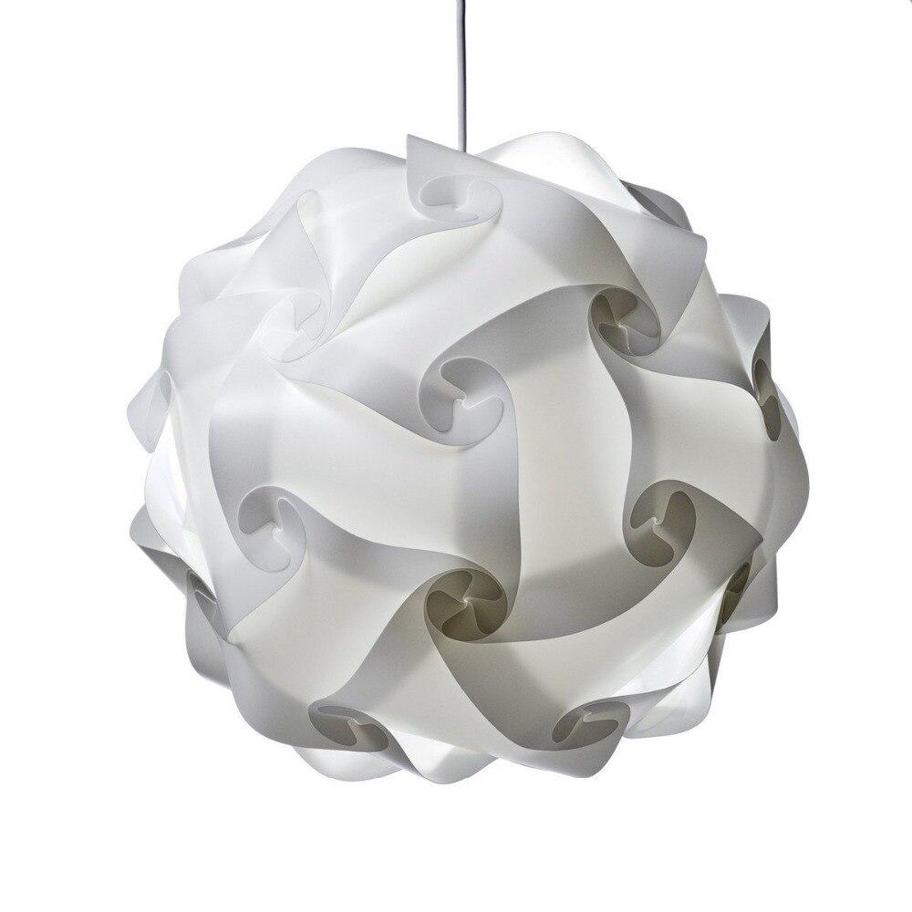 2pcs Ceiling Pendant DIY IQ Jigsaw Puzzle Lamp Shade Kit ...
