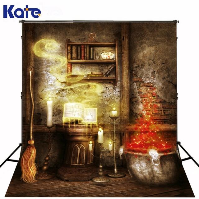 kate halloween photography backdrops retro brick wall fairy backgrounds broom wooden floor halloween studio backgrounds
