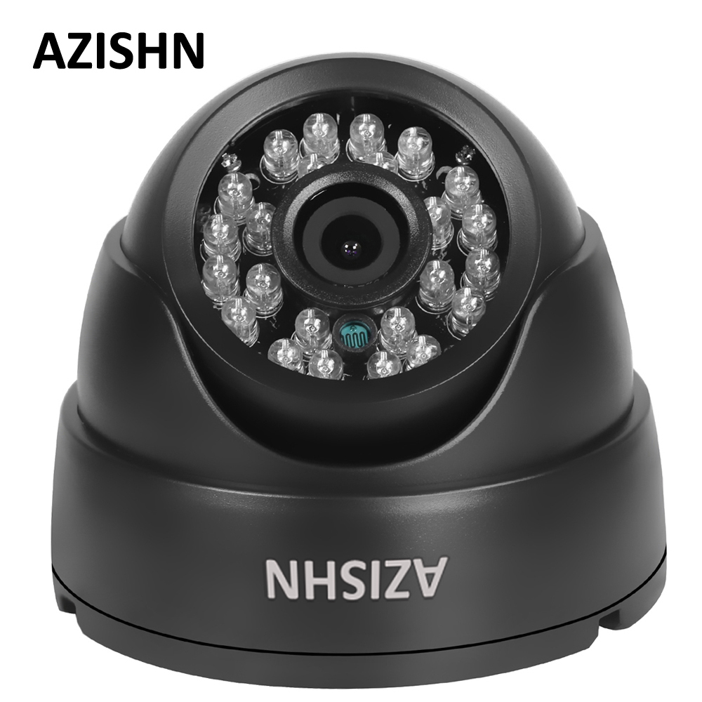 AZISHN AHD Caméra 1080 P FULL HD 1920*1080 AHDH 24 IR LED 3.6 MM Dôme Intérieur CCTV Surveillance Caméra IR Cut filtre