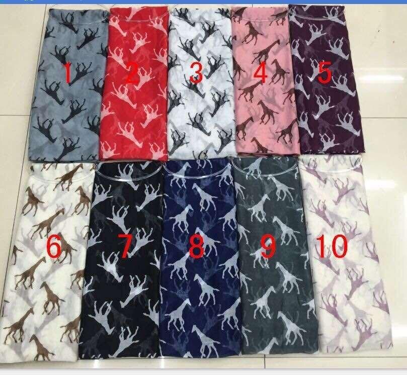 2014 New Fashion Giraffe Print Women Šátky Příslušenství Hijab Šátek Voile Shawl Mix Color Doprava zdarma