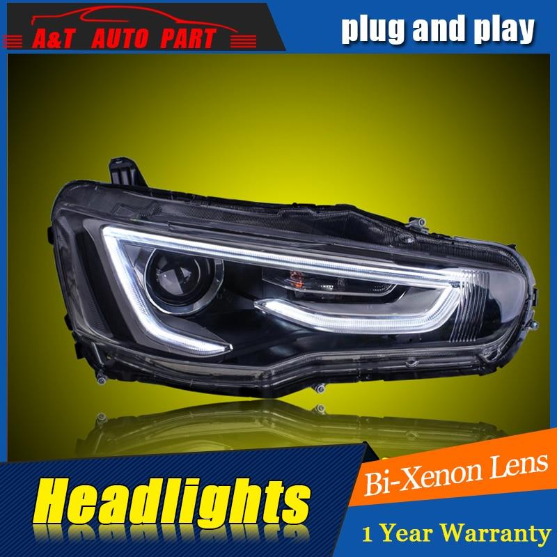 Car Styling For Mitsubishi Lancer EX headlight For Lancer EX LED head lamp Angel eye led DRL front light Bi-Xenon Lens xenon