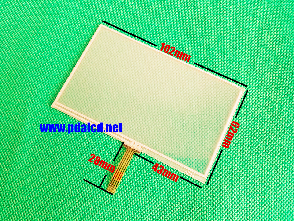 wholesale New 4.3-inch 102mmx62mm Touch screen panels for AT043TN24 V.1,GPS navigator,102x62mm Touch Screen Digitizer Panel wholesale new 4 3 inch touch screen panels for lms430hf18 lms430hf19 gps touch screen digitizer panel replacement free shipping