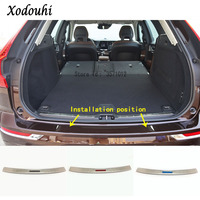 For Volvo XC60 2018 2019 car body styling frame trim stick Back Rear Pedal Door Scuff Plate Frame outside Threshold Trunk 1pcs