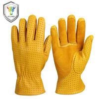 OZERO Work Gloves Men's Leather Genuine Goatskin Driver Security Protection Wear Safety Workers Welding Garage Gloves 5021