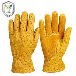 OZERO rękawice robocze skórzane męskie prawdziwa skóra kozia kierowcy zużycie bezpieczeństwo pracowników ochrony bezpieczeństwa spawania garażu rękawice 5021