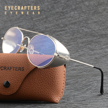Luxury Metallic Vintage Gothic Steampunk Sunglasses For Men Women Side