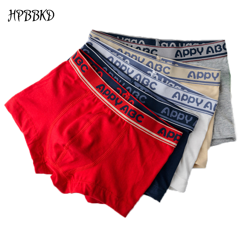HPBBKD 5pcs/lot Solid Color Boy Panties Cotton Children Breathable Underwears Boxer Panties For Boys Kids Shorts Pants BU016