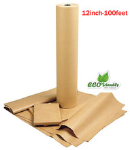 12inch-100Feet Kraft Paper Roll Recycled for Gift flower paper Wrapping,scrapbooking christmas wrapping packing