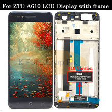 With frame For ZTE Blade A610 LCD Display Touch Screen HD Digitizer Assembly For ZTE Blade A610/A241 Version 318 Version Lcd